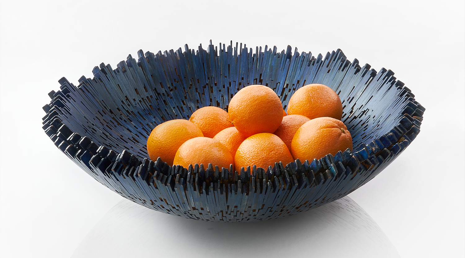 Borocay Driftwood Bowl Blue_with_oranges 1