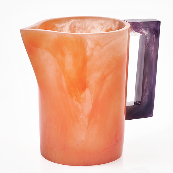 Orange with Violet Handle